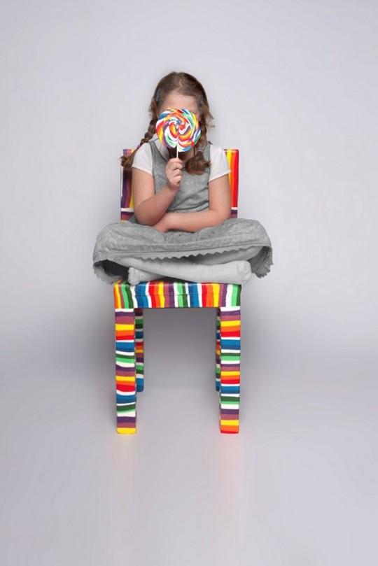 Chaise en sucre du designer Pieter Brenner