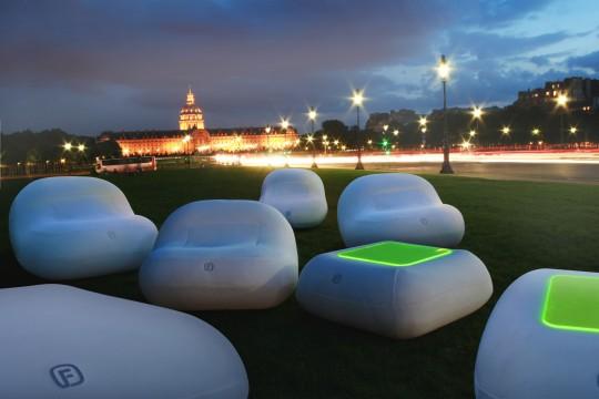 FUGU : Mobilier gonflé à l'air