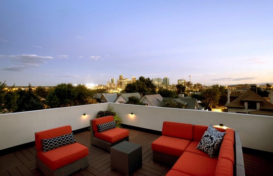 Toit terrasse plein ciel la nuit dans la maison shield house for Roof terrace definition