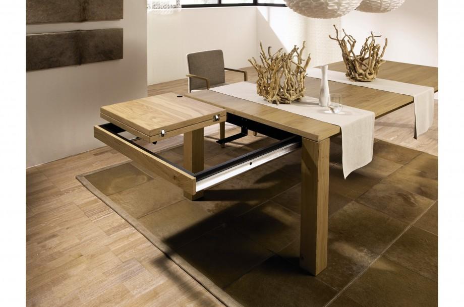 table manger en ch ne avec rallonge h lsta et 1400. Black Bedroom Furniture Sets. Home Design Ideas