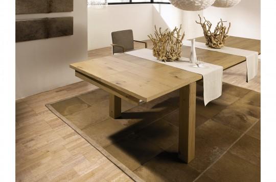 Table en chêne naturel avec rallonges Hülsta ET 1400