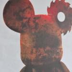 Tableau de designer Toy rouillé by Lizyo