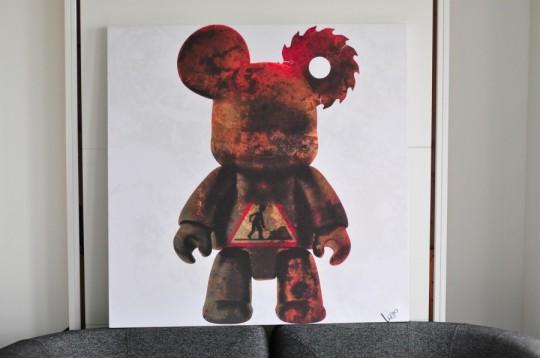 Tableau art toy En chantier par Lizyo pour Splashop