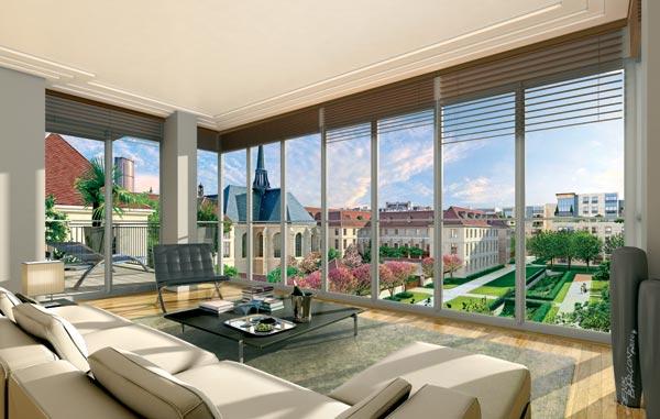 appartement avec baie vitr e paris 7 rive gauche. Black Bedroom Furniture Sets. Home Design Ideas