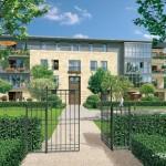 Entrée de la grille annexe de la résidence Paris 7 Rive Gauche