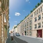 Paris 7 rive Gauche, la résidence de Cogedim vue de la rue