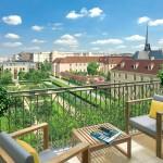 Paris 7 Rive Gauche, terrasse avec vue sur le jardin