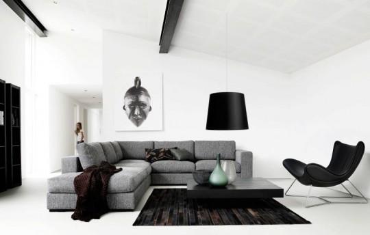 Canapé d'angle gris Celano BoConcept