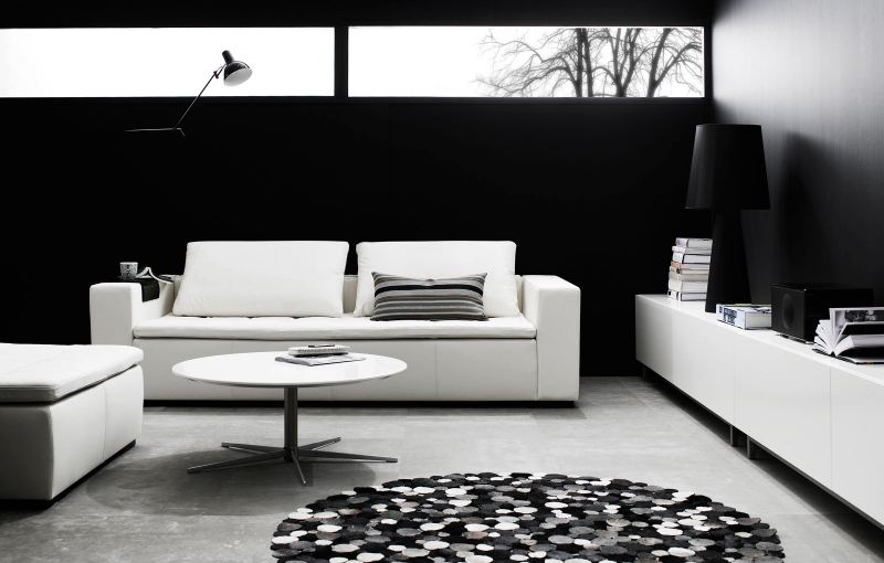 canap en cuir blanc 2 places morini boconcept. Black Bedroom Furniture Sets. Home Design Ideas