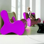 Fauteuil Vondom Doux violet par Karim Rashid