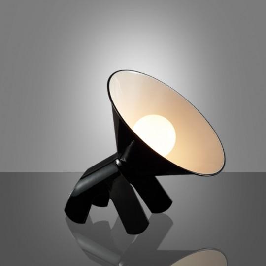 Lampe chien Snoopy noir par Lumiven