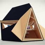 Tetra Shed bureau de jardin de forme tetraedique