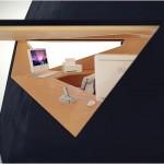 Tetra Shed bureau de jardin de forme tetraedre