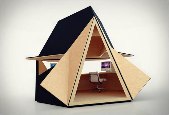 Avec Tetra shed, installez votre bureau dans le jardin !