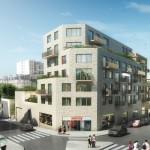 Canal Square, appartement neuf esprit loft à Paris 19