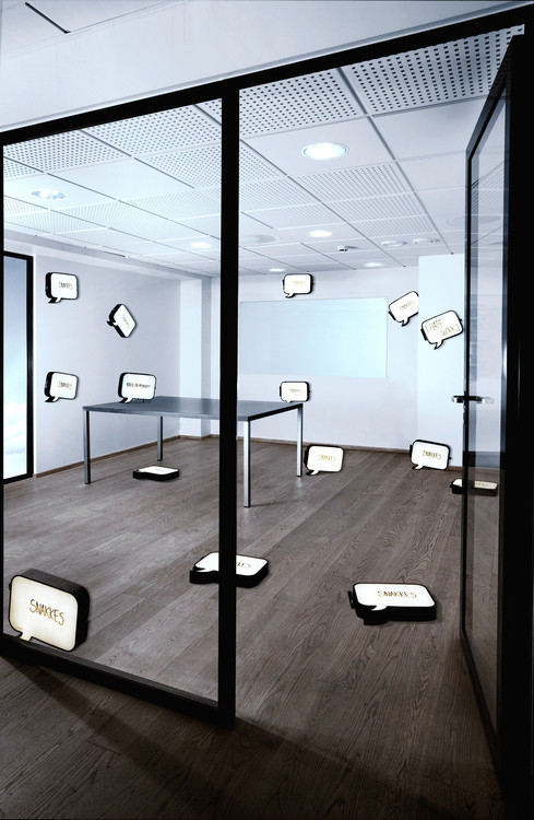 Snakkes, applique LED tableau blanc