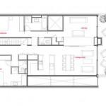 Plan d'une maison en bois éco-durable