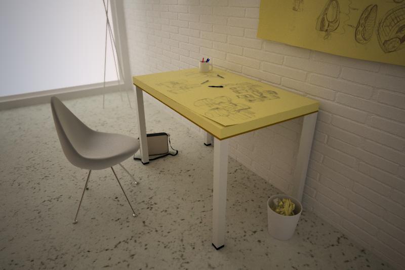 Post-it table, enfin un bureau sur lequel on peut dessiner !