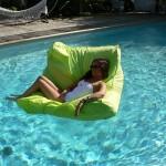 Pouf de piscine vert