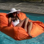Pouf de piscine Orange