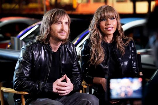 David et Cathy Guetta font la promotion de la Renault Twizy