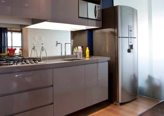 Petit appartement optimisé par un architecte d'intérieur - cuisine