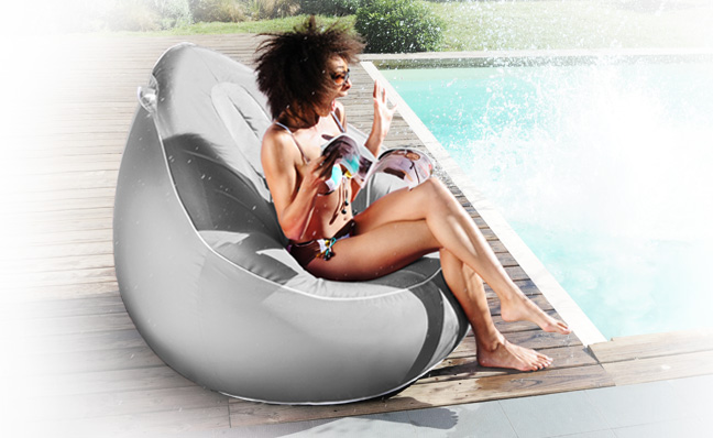 Pouf poire gonflable Air Concept