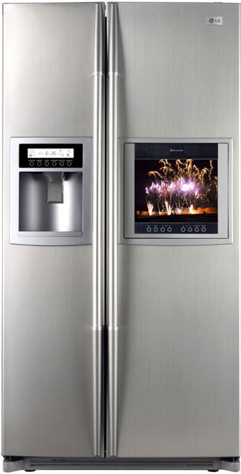 Réfrigérateur américain avec téléviseur LCD intégré