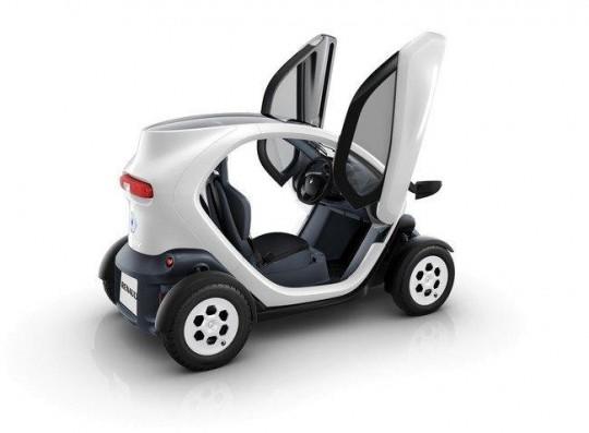 Renault Twizy avec les portes papillon