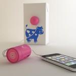RockR enceinte audio de poche en forme de gélule rose
