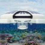 Solar Resort, yatch futuriste en forme d'ile avec espace sous-marin