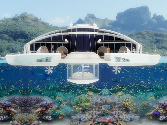 Solar resort, yatch avec poste de vision sous-marine