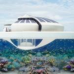 Solar resort, yatch solaire avec vision sous-marine