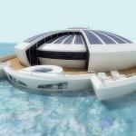 Solar resort, bateau rond à énergie solaire