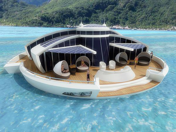 Solar resort, bateau en forme de disque