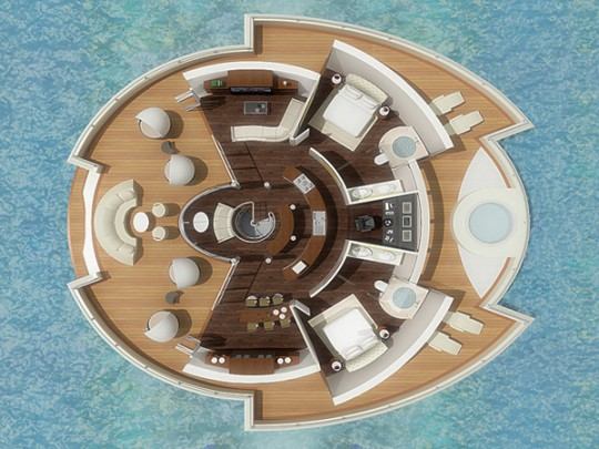 Solar Floating Resort, yatch ile flottante solaire par Michele Puzzolante