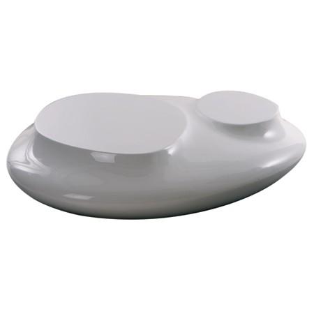 Table basse design blanche Cute cut