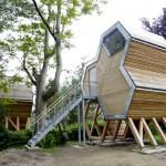 Une cabane en forme d'octogone