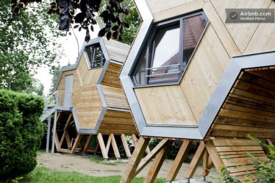 Cabanes octogonales à louer