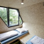 Intérieur d'une cabane moderne octogonale