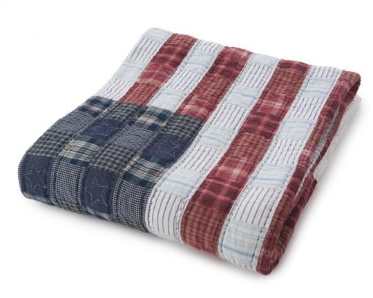 Couvre-lit avec le drapeau américain Lexington