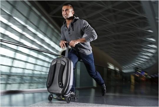 Micro mobility lance la valise transformable en trottinette