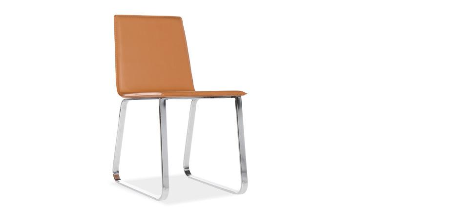 nova une chaise design aspect cuir moins de 60 euros. Black Bedroom Furniture Sets. Home Design Ideas