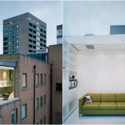 Un appartement à Soho avec une pièce en verre