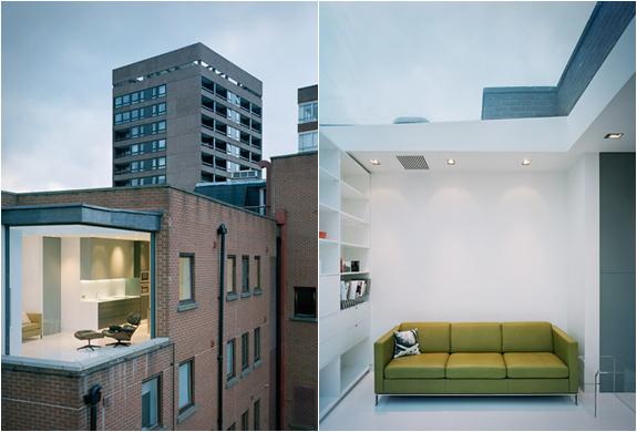 Un appartement unique avec une pièce en verre par Dive architects