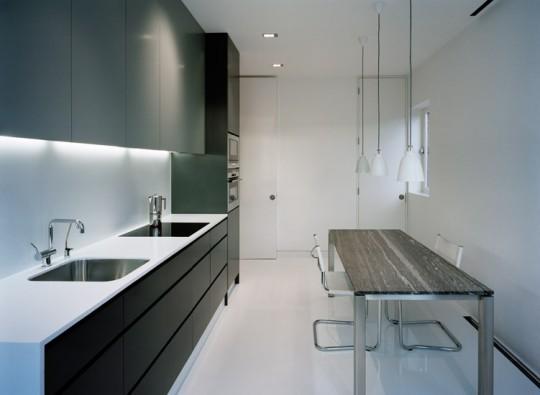 Cuisine design dans un appartement à Soho (Londres)