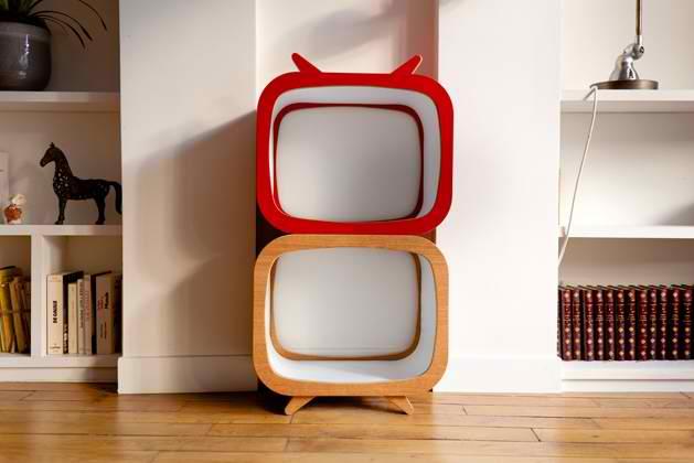 Tvintage meuble tv en bois style vintage for Meuble style retro