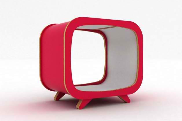 Tvintage, boite de rangement insprée des anciens postes de TV des années 50