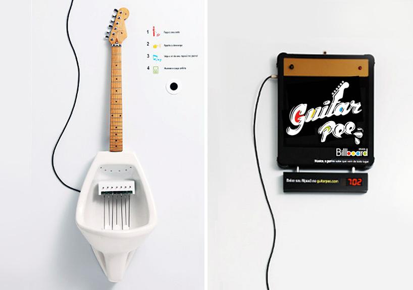 Urinoir guitare électrique Guitar Pee