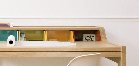 Détail casier de couleurs du bureau Desk Hansen Family Remix